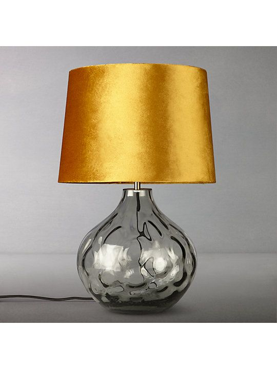 John Lewis Partners Vivienne Smoked Glass Table Lamp Grey