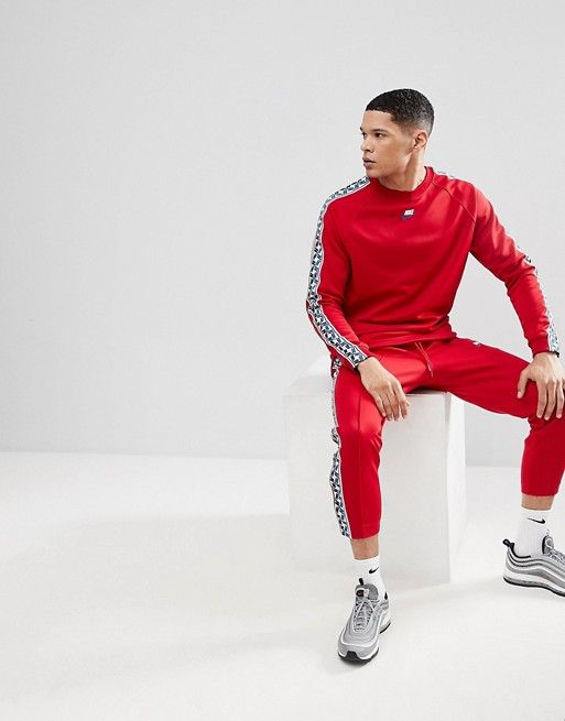 nike taped side stripe tracksuit new