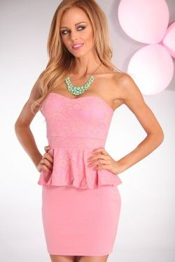 #pink #lace #peplum #dress #girly Get 40% off w/promo code MSR40peplum dress #anna7891 #stylefashion #   2dasylook.com