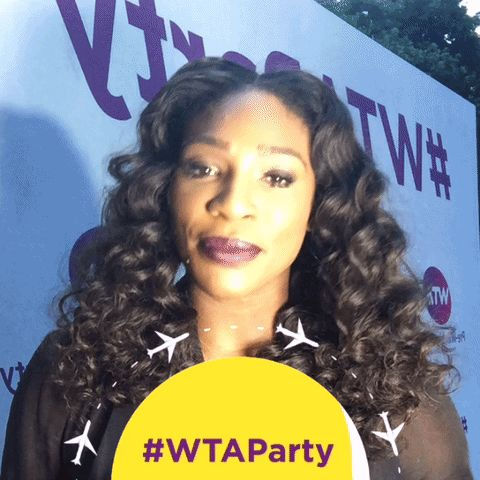 New trending GIF tagged serena williams serena wta party via...
