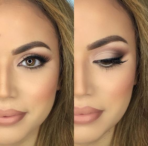 30 Wedding Makeup Ideas for Brides - Bridal Glam - Romantic make up ideas for the wedding - Natural and Airbrush techniques that look great with blue, green and brown eyes - rusti evening glow looks - thegoddess.com/wedding-makeup-for-brides (bridesmaid makeup lipstick)