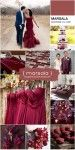 Decoração de Casamento Paleta de Cores Marsala