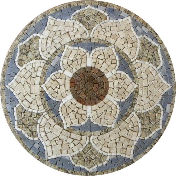Mandalas em mosaico mosaiquismo pinterest mandalas for Marmol significado