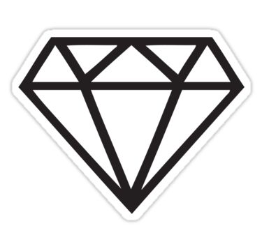 Simple Diamond Shape Tattoo