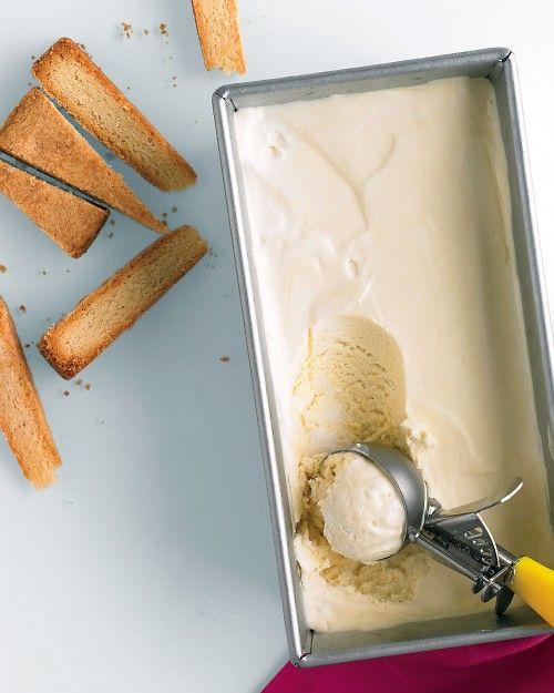 frozen honey cream. no ice cream maker required!