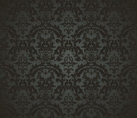 Xoo plate 5 black elegant vintage pattern vector for Dark elegant wallpaper