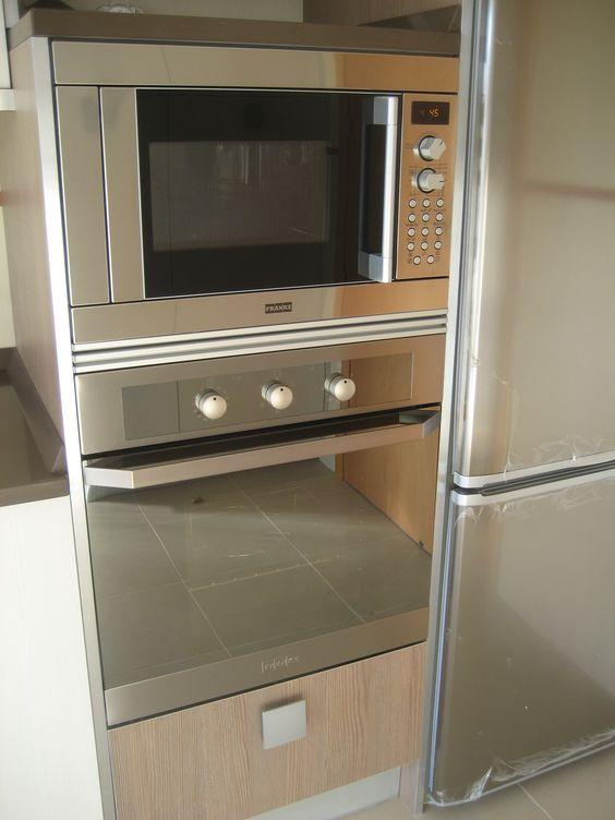 Semicolumna horno microondas muebles para hornos micro pinterest - Muebles auxiliares para microondas ...