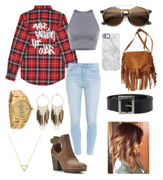 """""""Make fashion not war"""" by brookemch99 ❤ liked on Polyvore featuring Paige Denim, Miss Selfridge, American Eagle Outfitters, Uncommon, Dolce&Gabbana, Rolex, Wanderlust + Co and Panacea"""