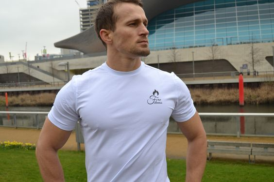 fitted white t shirt for body builders