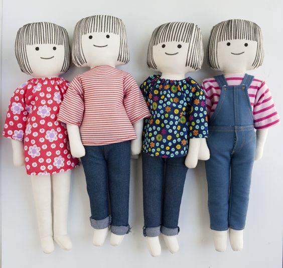muñeca de trapo ropa con pegamento - Buscar con Google