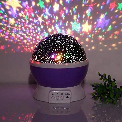 4tens Sun And Star Lighting Lamp 4 Led Bead 360 Degree Romantic Room Rotating Cosmos Star Projector With 59 Inch Usb Cable Light Lamp Starry Moon Sky Night Pro Night Light