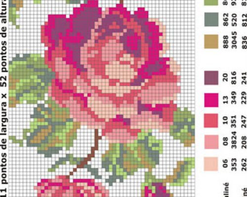 78 Graficos De Flores Em Ponto Cruz Para Imprimir Com Imagens