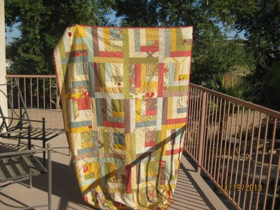 """""""kaiti's log cabin"""" pattern by the shabby trunk on facebook! sample sewn by betsy v"""
