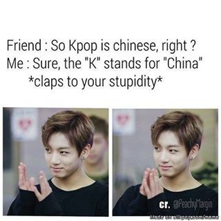 Funny that Kookie is the one clapping...