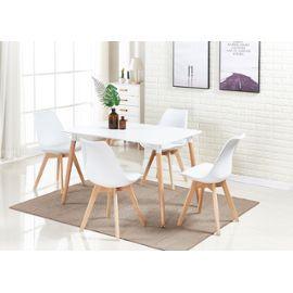 Ensemble Table A Manger Lorenzo Table Blanche 4 Chaises