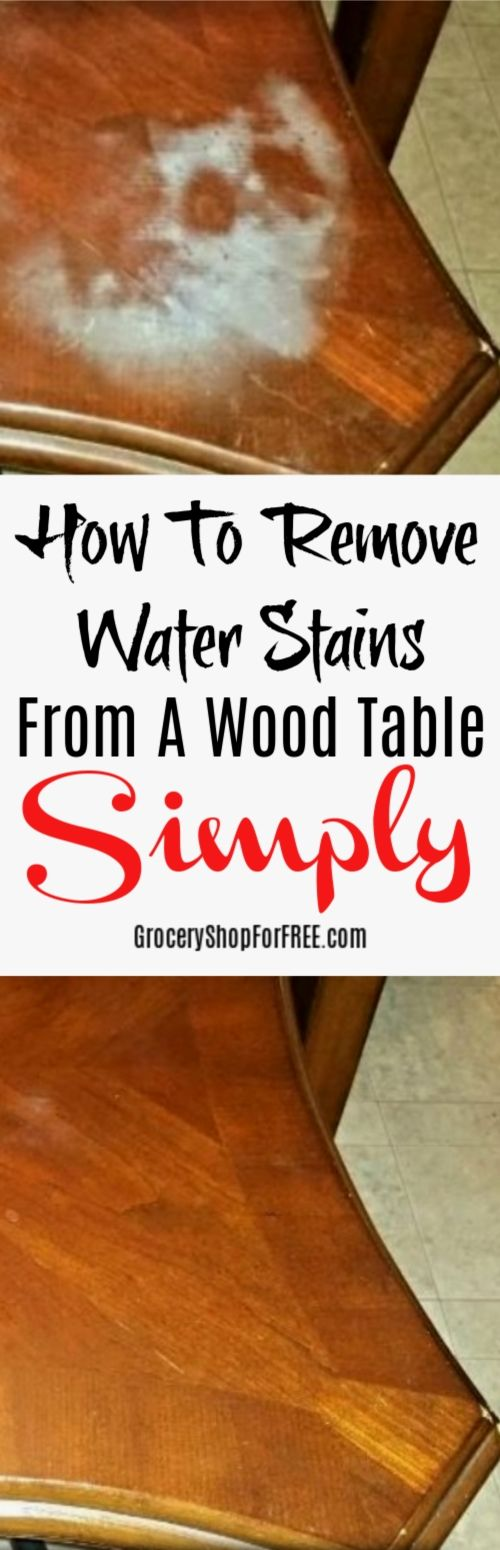 How To Remove Water Stains From A Wood Table Stain On - How To Remove Water Stains From Pine Table