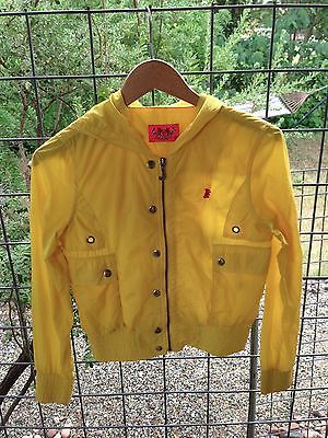 Yellow Juicy Couture Cropped Coat Jacket Windbreaker XS Petite ...