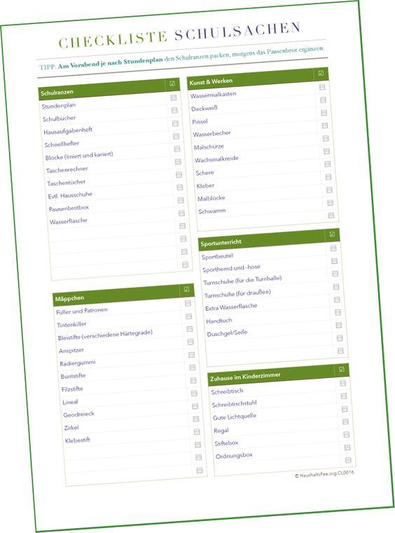 haushaltsfee checkliste und to do liste checklisten. Black Bedroom Furniture Sets. Home Design Ideas