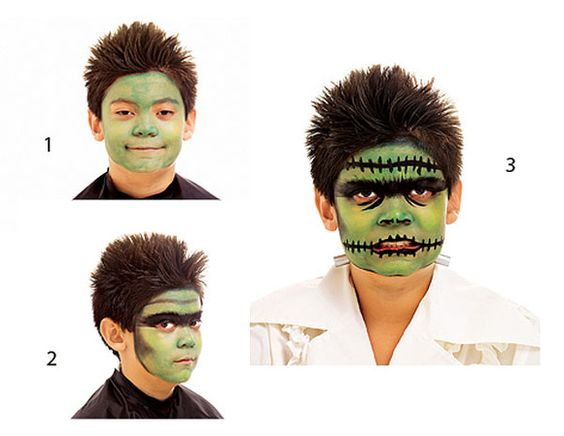 maquillaje de halloween para niños paso a paso