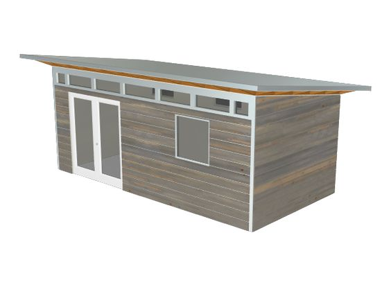 Design plan backyard sheds studios modern prefab for Modular studio shed