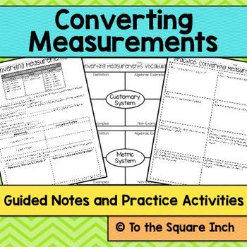 Converting Measurements Notes