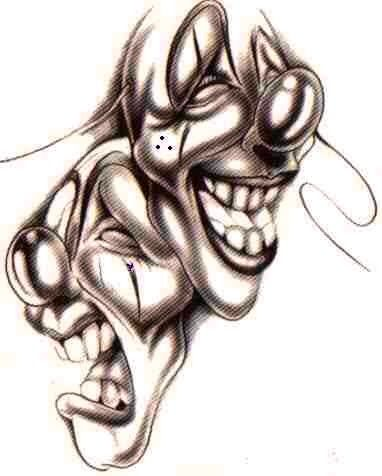 Payasos, Dibujo, Ilustraciones, Chicano Dibujos, Arte Chicano, Tatuajes De Arte, InspiracióN Del Tatuaje, Estudio De Tatuajes, MáScaras