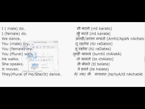 Learn Marathi Learn Marathi From English Learn Simple Present Tense In Marathi Simple Present Tense English Words Learn English