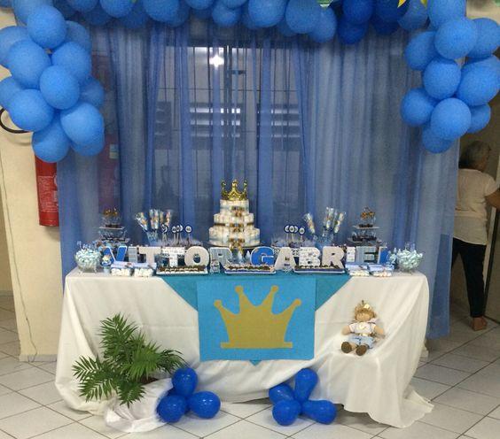 Chá baby azul, tema principe