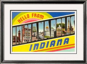Indy travel poster