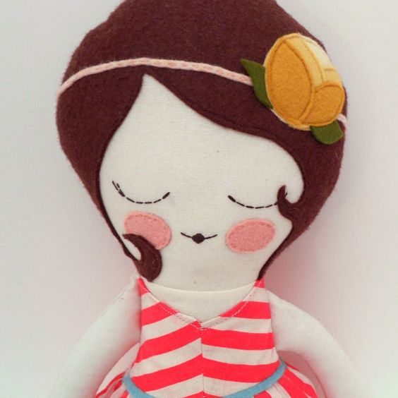 Ruby 18 cloth doll customizable rag doll red by piggyhatespanda