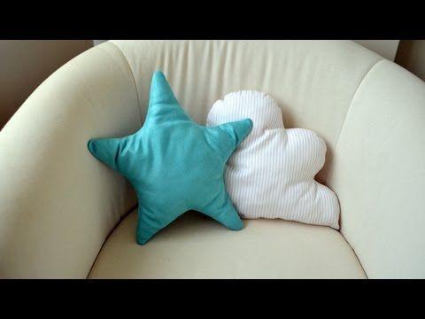 El Rincon de Fri-Fri: Decorando la habitación de Néstor. Parte 5: cojines con forma de estrella y nube