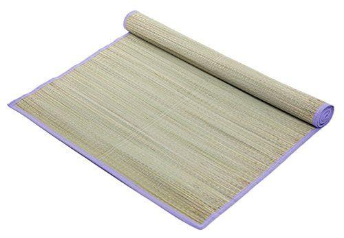 Tropical Woven Straw Beach Mat Purple