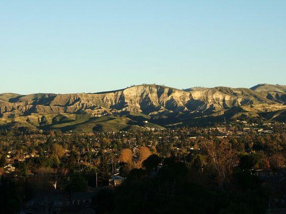Simi Valley, CA : Sunrise on White Face, Simi Valley, California