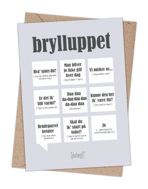 Kort Til Bryllup Med Sjove Citater Fra Dialaegt Sjove Citater Glaedelig Jul Kort Kort