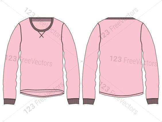Download Men S Long Sleeve T Shirt Template Vector And Psd Pack 01 Shirt Template Men S Long Sleeve T Shirt Long Sleeve Tshirt