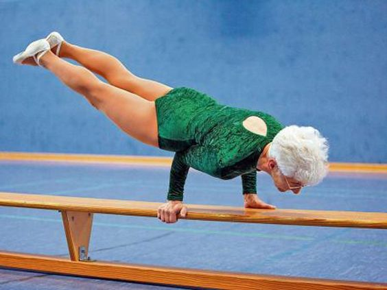 """Previous pinner: """"Totally awesome! Johanna Quaas - 86-year-old gymnast.""""  Me: Holy Guacamole!!!!"""