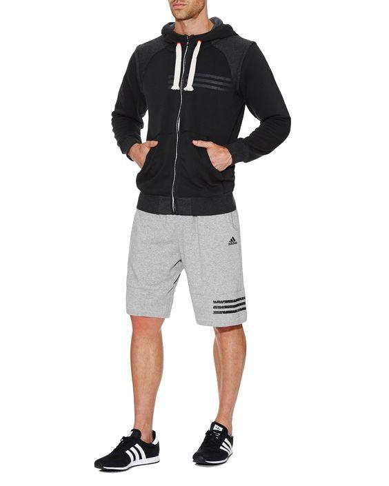 StylerunnerMAN. Adidas Adic Full Zip Hoodie and Combat Short.