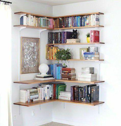 Bibliotheque Angle Deco Maison Idee Deco Etagere Murale Angle