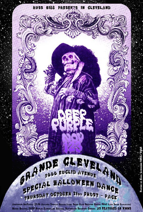 deep purple poster - grande cleveland