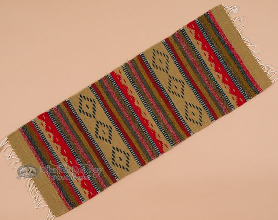 "Southwest Zapotec Indian Table Runner 15""x40"" (b53) - Mission Del Rey Southwest"