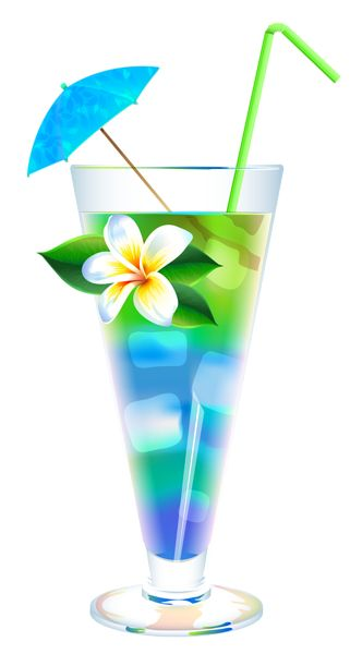 Exotic Summer Cocktail PNG Clipart Image | Summer Vacation ...