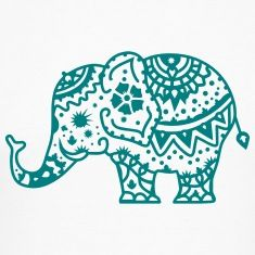 a decorated Indian elephant T-Shirts