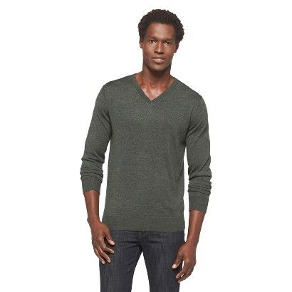 Merona Men's Merino Wool V-Neck Sweater