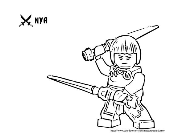 Ninjago Nya Coloring Pages Best Quotes Collection