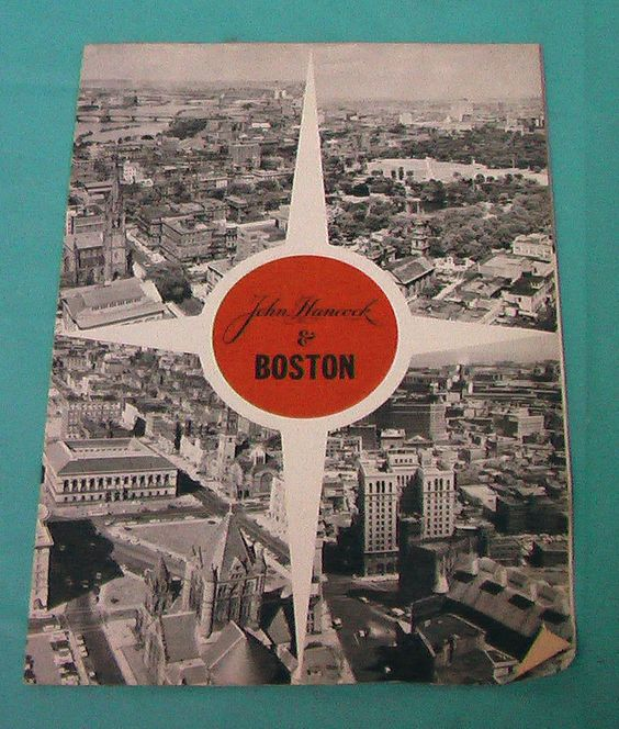 1960's John Hancock Insurance Company Brochure Boston Vintage Free Shipping