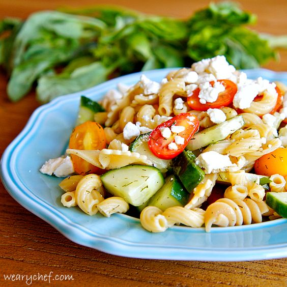 Pretty Pasta Salad without Mayo | Recipe | Picnics, Fresh ...