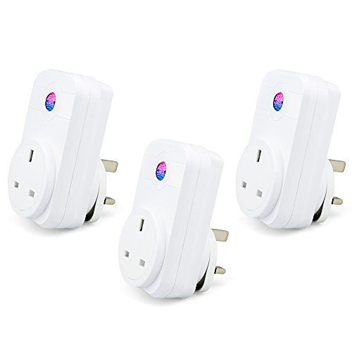 3 Pcs Smart Plug – Nozdom 2.4 G WiFi Socket Remote Control Light Timer Compatible with Alexa Echo Google Home