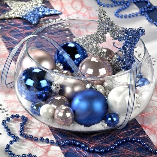 Christmas Decoration In The Pantone Color Of The Year 2020 Christmas Decorations Christmas Table Decorations Blue Christmas Decor
