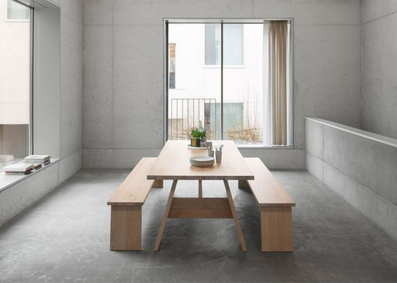 David Chipperfield creates simple furniture from wooden planks.