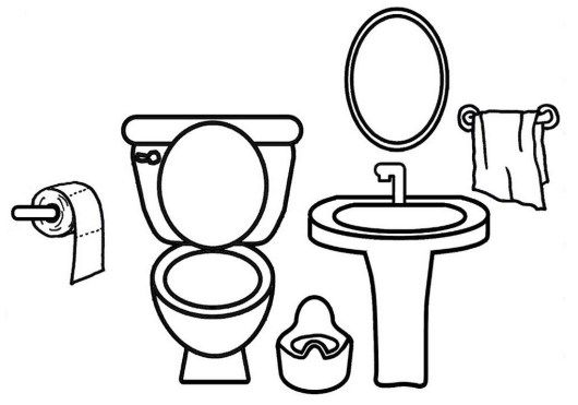 Bathroom Coloring And Drawing Page Coloring Pages Paper Doll House Coloring Pictures For Kids